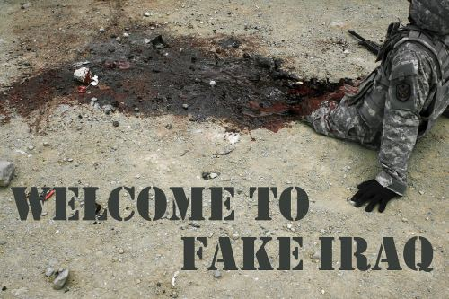 Welcome to Fake Iraq Postcard