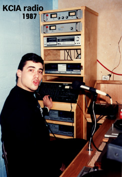 DJ Bobby Love (Robert Loveren) on CalArts KCIA radio in 1987
