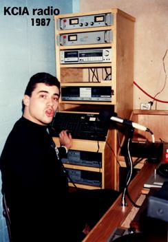 DJ Bobby Love (Robert Loveren) on CalArts KCIA radio in 1987