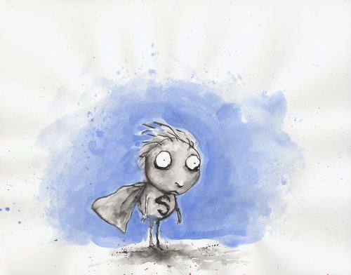 Tim Burton's Untitled (The Melancholy Death of Oyster Boy and Other Stories). 1998. | From his private collection.