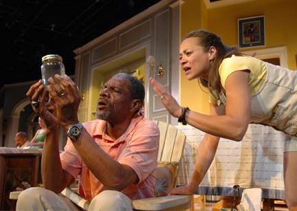 L-R: John Wesley & Michole Briana White in 'Stick Fly.'