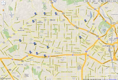MAK Center Map