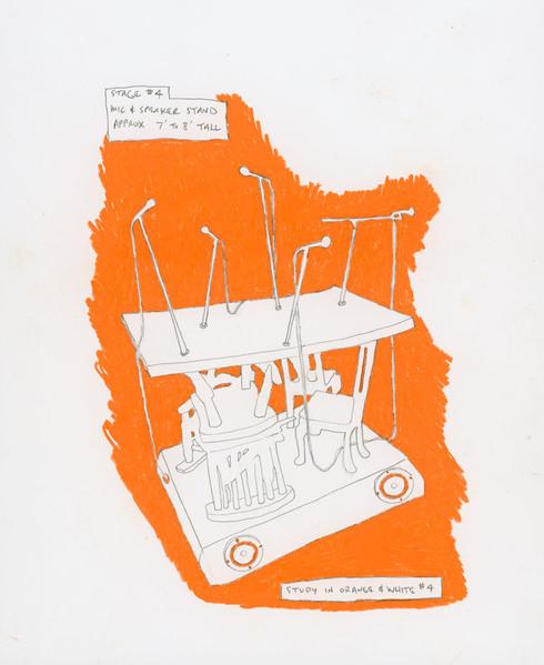Martin Kersels, Study in Orange & White #4, 2009