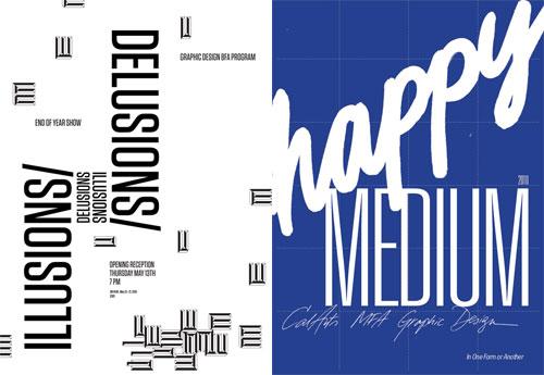 BFA and MFA Graphic Design posters