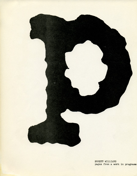 A page from 'Borborigmi,' a collection of poetry and writing published by the CalArts School of Critical Studies in 1970.
