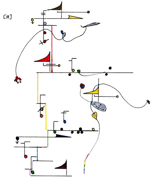 Wadada Leo Smith's graphic score for 'Seven Heavens,' a piece written in 2005.