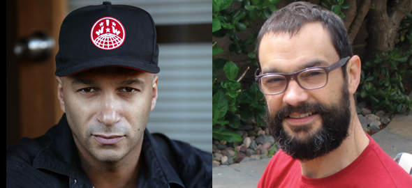 Tom Morello & CalArts f aculty member Sam Durant to present a conversation at the Hammer Museum on Wednesday.