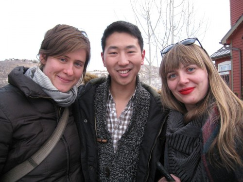 Logan Kibens (PFV MFA '10), Ruthie Doyle (PFV MFA '12), and myself (FDP MFA '11))