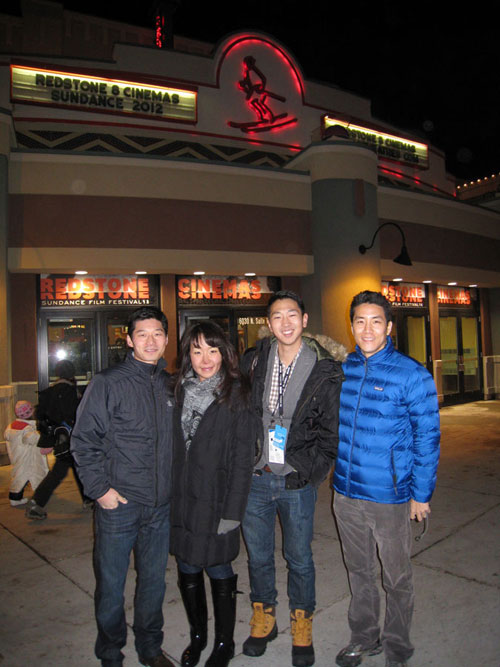 Actors James S. W. Lee, Chris Yejin, Martin Lee, and myself)