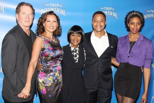 'The Trip to Bountiful' stars Cicely Tyson, Cuba Gooding Jr., Vanessa Williams, Condola Rashad and Tom Wopat meet the press on March 11, 2013 at Sardi's. | Photo: Bruce Glikas, © Broadway.com