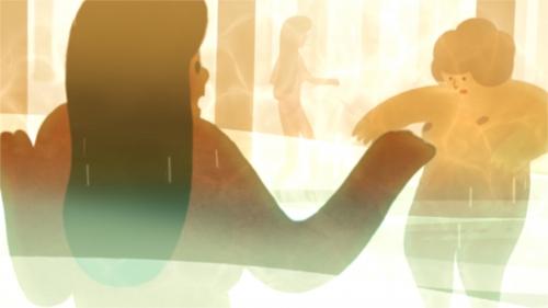 Film still from Jisoo Kim's 'The Bathhouse'