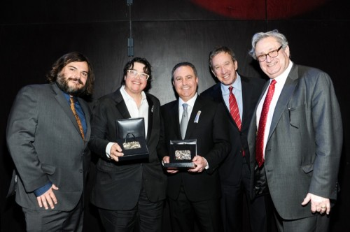 Jack Black, Catherine Opie, Alan Bergman, Tim Allen, Steven D. Lavine at the 2013 REDCAT Gala.   Photo: Stefanie Keenan