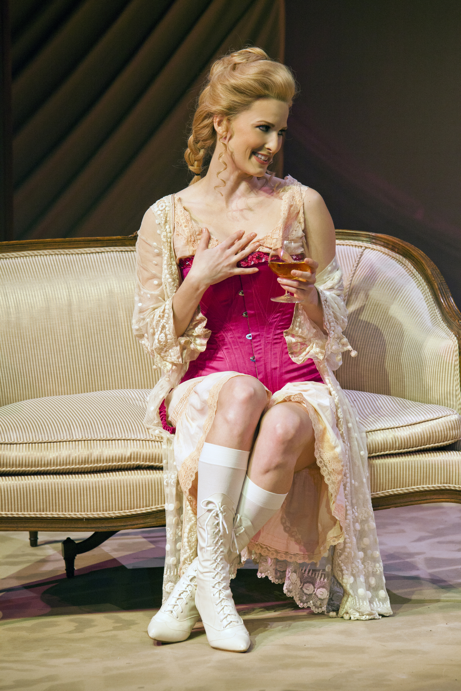 Angel Reda in a scene from 'Intimate Apparel' at The Pasadena Playhouse. | Photo: Jim Cox