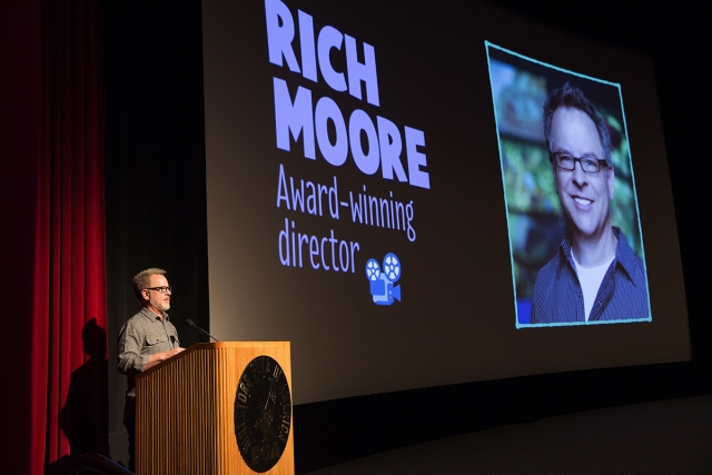 Animator and CalArts alumnus Rich Moore at the 2016 CalArts Character Animation Producers' Show. | Photo: Steve Gunther