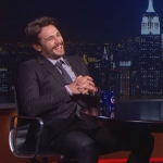 James Franco was on 'The Colbert Report' on July 30.