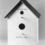 Mike Kelley, 'Catholic Birdhouse,' painted wood and composite shingles, 55.9 cm x 47 cm x 47 cm, 1978. | Private Collection, New York. Photo courtesy of Mike Kelley Foundation for the Arts.