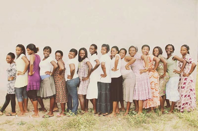 The women who work for Della, some of whom have been with the company for more than two years.