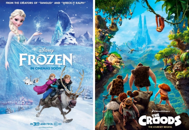 'Frozen' and 'The Croods' were nominated for 2014 Golden Globe Awards. Both films were directed by CalArts alumni.