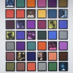 Carrie Mae Weems, 'Untitled (Colored People Grid),' 11 inkjet prints and 31 colored clay papers, dimensions variable overall; individual components: 10 in x 10 in, 2009–10. | Collection of Rodney M. Miller © Carrie Mae Weems.
