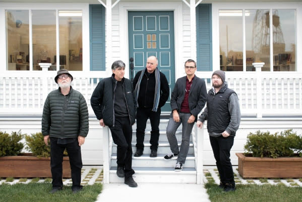 Extended Organ at Mike Kelley's Mobile Homestead, Museum of Contemporary Art Detroit, November 2013. L to R: Paul McCarthy, Joe Potts, Tom Recchion, Fredrik Nilsen, Alex Stevens. | Photo: Danny Gromfin