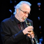 Herb Alpert performs at the 2014 CalArts' REDCAT Gala.
