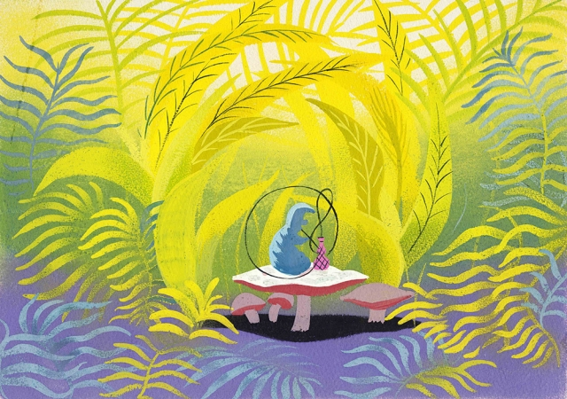 WDFM_Mary Blair_Alice in Wonderland_Caterpiller