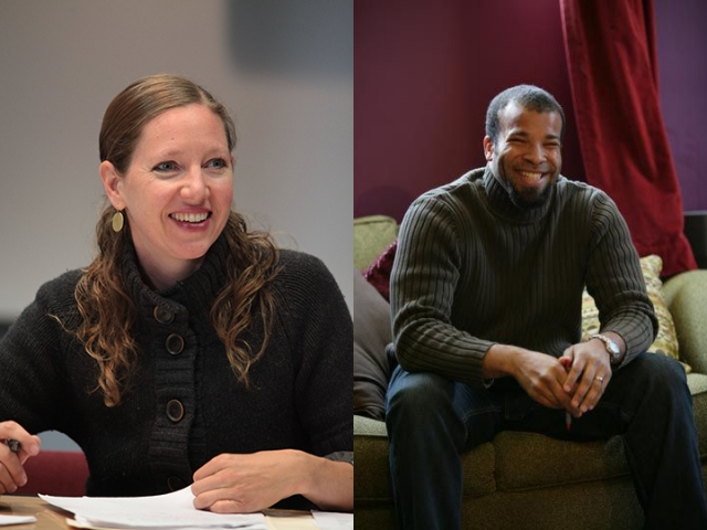 CalArts faculty Maggie Nelson (left) and Douglas Kearney (right).