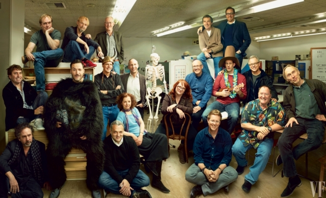 The most viewed post of the year featured CalArts alumni animators in 'Vanity Fair.' | Photo by Annie Leibovitz, courtesy of 'Vanity Fair'