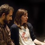 Film/Video faculty Jon Reiss and Deborah LaVine flank Gia Coppola, director of 'Palo Alto.'