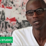 "Mark Bradford - ""Bad Ass"" Painting  - The Artist's Studio - MOCAtv"