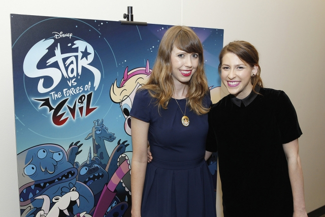 At the 'Star vs. The Forces of Evil' screening and panel discussion were show creator and executive producer Daron Nefcy and actor Eden Sher. | Photo: Disney XD/Rick Rowell