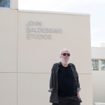The artist John Baldessari with the newly-dedicated John Baldessari Studios in the background. | Photo: Rafael Hernandez