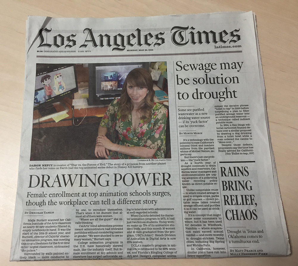 Los Angeles Times: CalArts' Women Animators Featured In Los Angeles Times