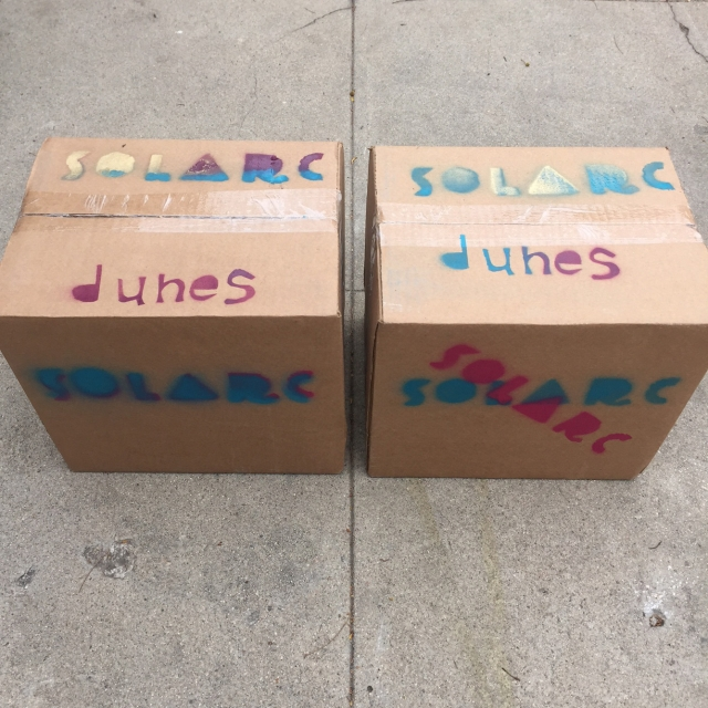 Boxes of 'Dunes' from SoLArc Brewing, ready for delivery. | Photo courtesy Archie Carey