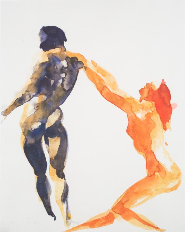 Eric Fischl Watercolors The Eroica Trio Perfor...