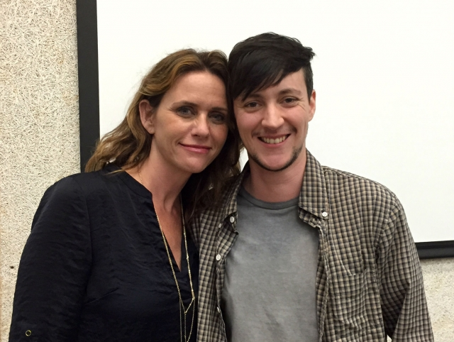 'Transparent' actor Amy Landecker with Associate Producer and CalArts alum Rhys Ernst at a visit to CalArts last semester. | Image: Christine N. Ziemba