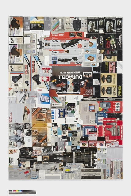 Michael Decker, 'Black and Decker,' found cardboard boxes, PVA, and museum board on hardwood panel, 96 in. x 66 in., 2014.