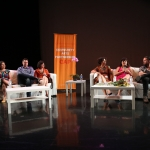 CAP 25th anniversary panel: Nadine Rambeau; Sara Guerrero, Jon Lapointe, Isabelle Lutterodt; Sandy Rodriguez; Noah Harmon, and Francesca Penzani.