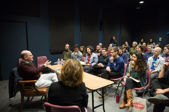 Matthew Weiner at CalArts. | Photo: Rafael Hernandez