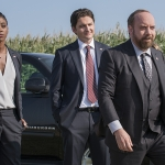 Condola Rashad, Toby Leonard Moore and Paul Giamatti star in 'Billions'  (Season 1, Episode 05)| Photo:  Jeff Neumann/SHOWTIME