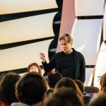 Esa-Pekka Salonen lectured at CalArts on Jan. 15. | Image: Rafael Hernandez