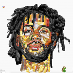 Yung Jake's emoji artwork. | Image: WeTransfer