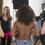 Natalie Metzger directs the PSA,'Topless Women Talk NFL.' (image: Courtesy of Made by Women Media)