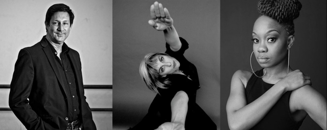 Evelyn Sharp/CalArts Summer Choreographic Residency artists: (from left) Laurence Blake, Rosanna Gamson and Camille Brown.