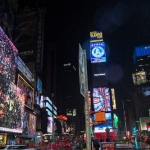 CalArts alumna Jennifer Steinkamp's 'Botanic' screens in Times Square all month long. | Image: Ka-Man Tse for @TSqArts