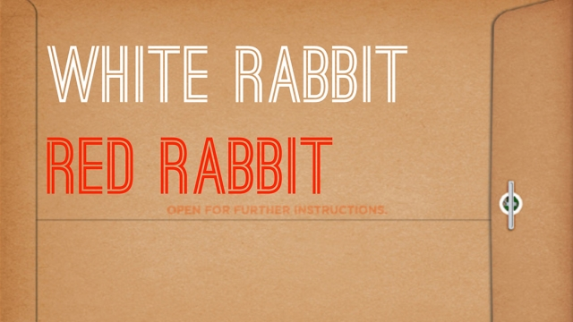 Promotional poster for 'White Rabbit Red Rabbit,' one of seven productions staging at LAX this year. | Image courtesy LAX.