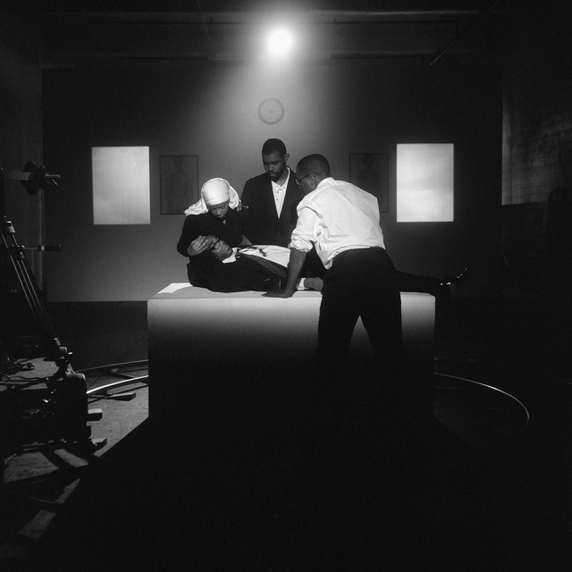 Carrie Mae Weems, 'The Assassination of Medgar, Malcolm, and Martin,' archival pigment print, 61 in. x 51 in. (framed), 2008. | ©Carrie Mae Weems. Courtesy of the artist and Jack Shainman Gallery, New York.