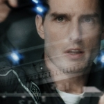 clip of gesture based user interface from minority report