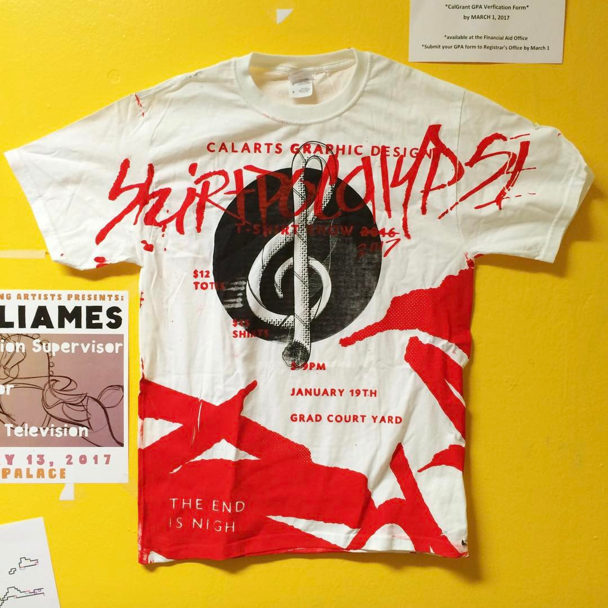 Graphic design program s t shirt show goes apocalyptic for Graphic t shirt designs