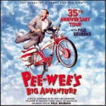 Poster of Pee-Wee Herman and his bike
